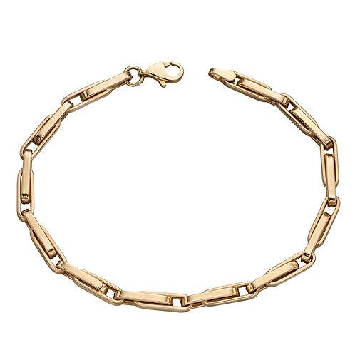 Long Links Bracelet in Yellow Gold