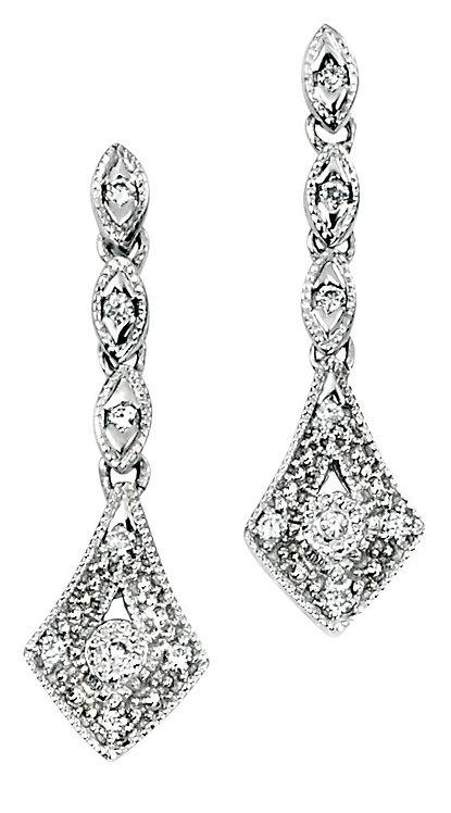 Vintage style Diamond Drop Earrings