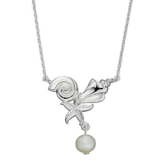 Seashore Necklace with Freshwater Pearl