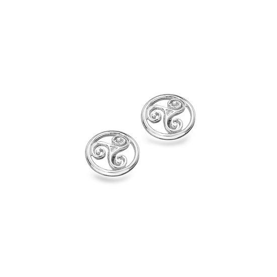 Celtic Triskele Stud Earrings