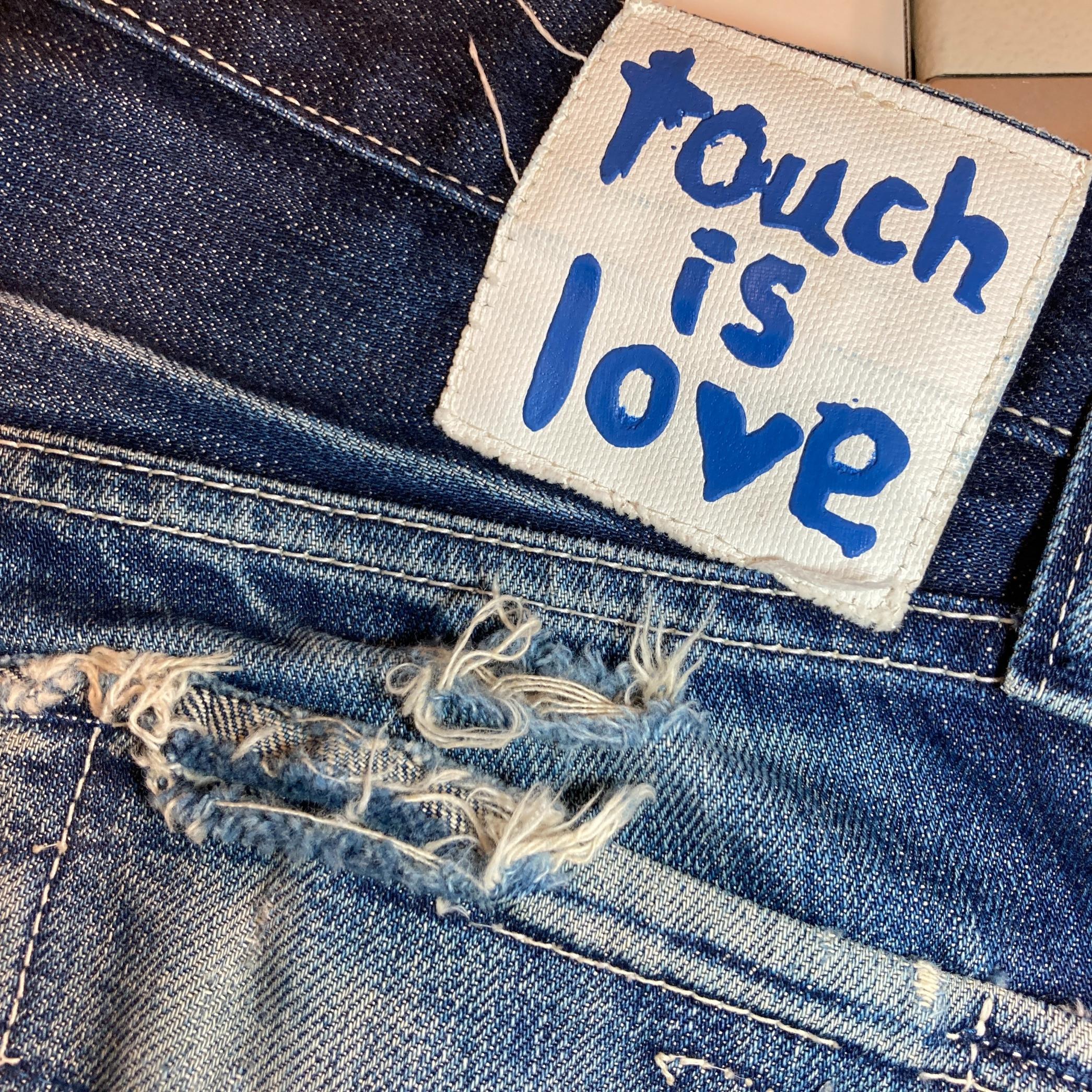 お買い上げいただいたジーンズの修理