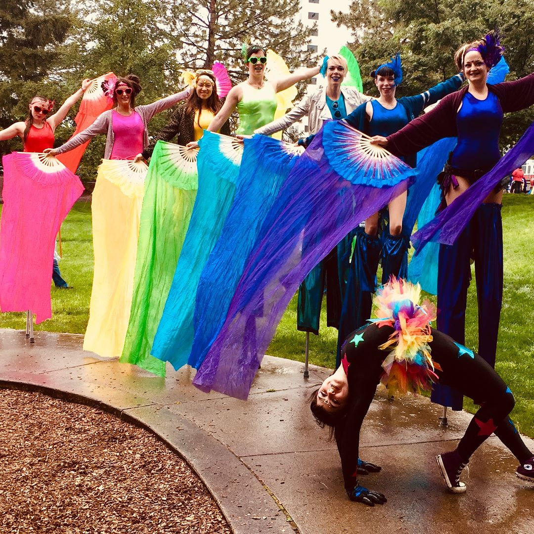 VE Stiltwalkers at Spokane Pride