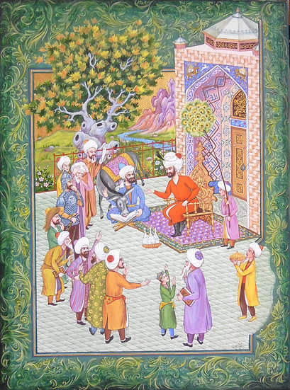 Nasreddin Hodja Teaching His Donkey Literacy