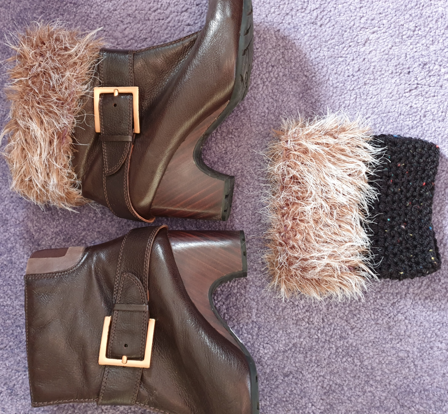 Furry Boot Cuffs