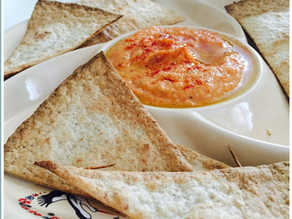 Roasted Garlic and Red Bell Pepper Hummus
