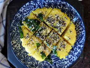 Instant Rava Dhokla - Steamed savory cake