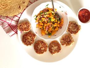 Spicy Chicken Patties with Mango Salsa