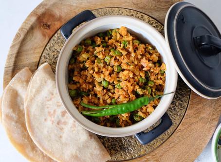 Kheema Gobi Matar / Minced Cauliflower with Peas