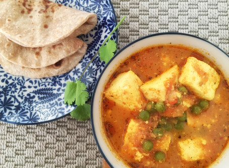 Matar Paneer/Indian Cottage Cheese and Peas