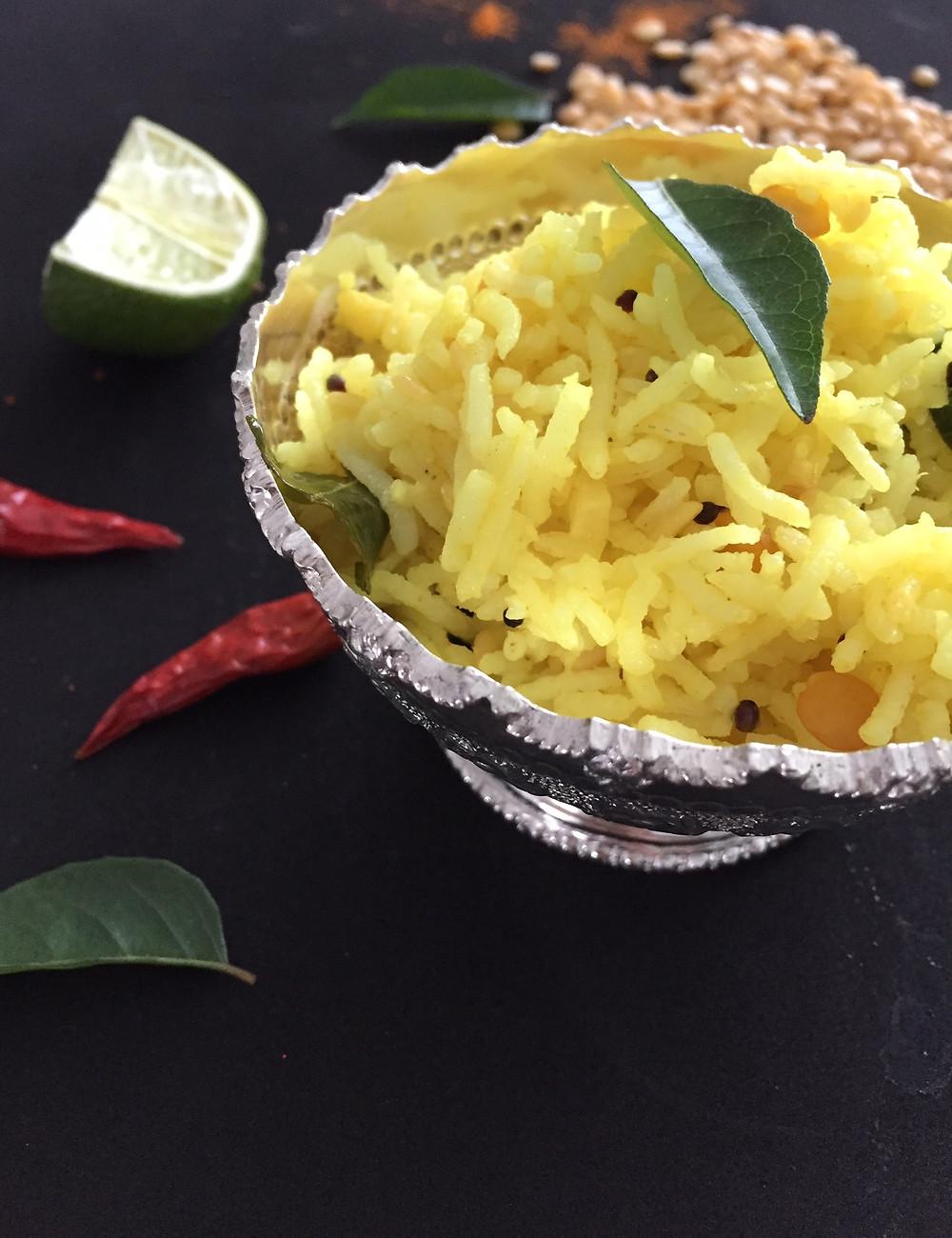 Lemon rice, aartisfoodologue, aarti food blog,