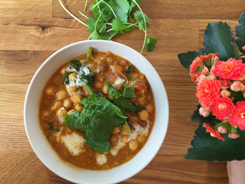Chickpea Spinach Curry