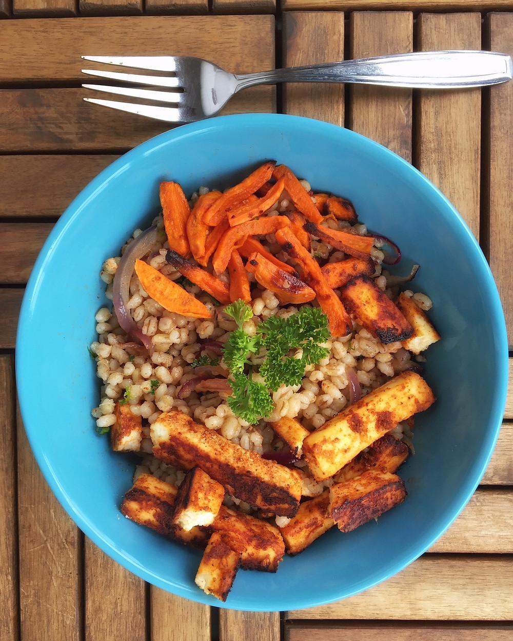 Barley Salad, Bygg Salat, Tandoori Paneer