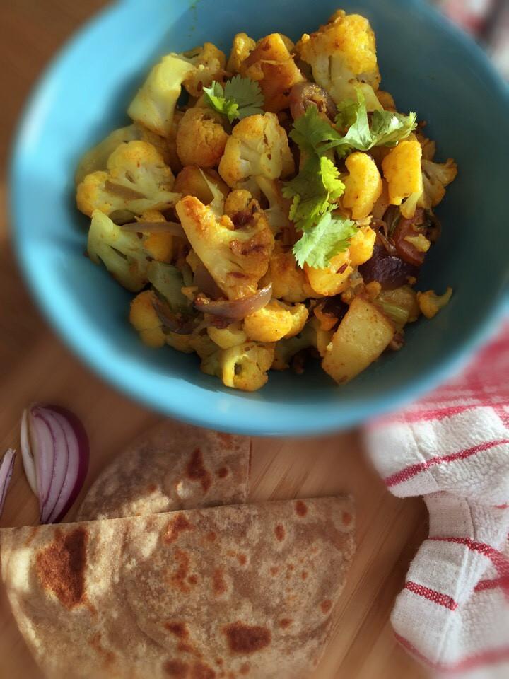 Aloo gobi, Cauliflower, aartisfoodologue