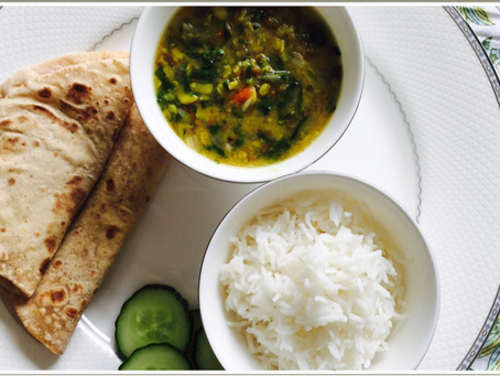 Yellow lentils with Spinach (Palak Dal)