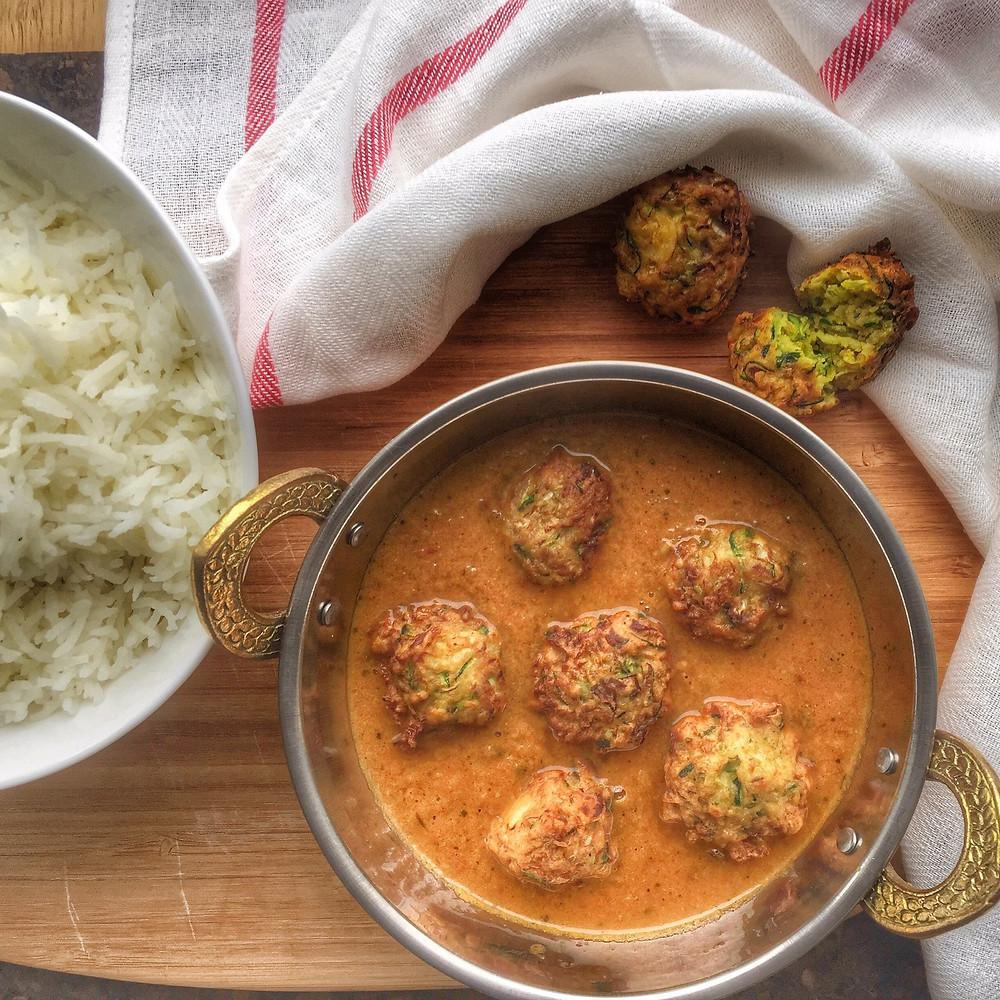 Zucchini Kofta Curry, Kofta, Indian food, aartisfoodologue