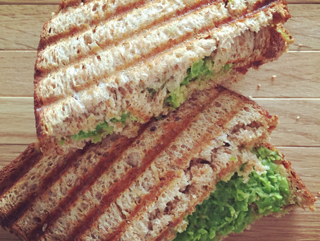 Green Peas Chutney Sandwich