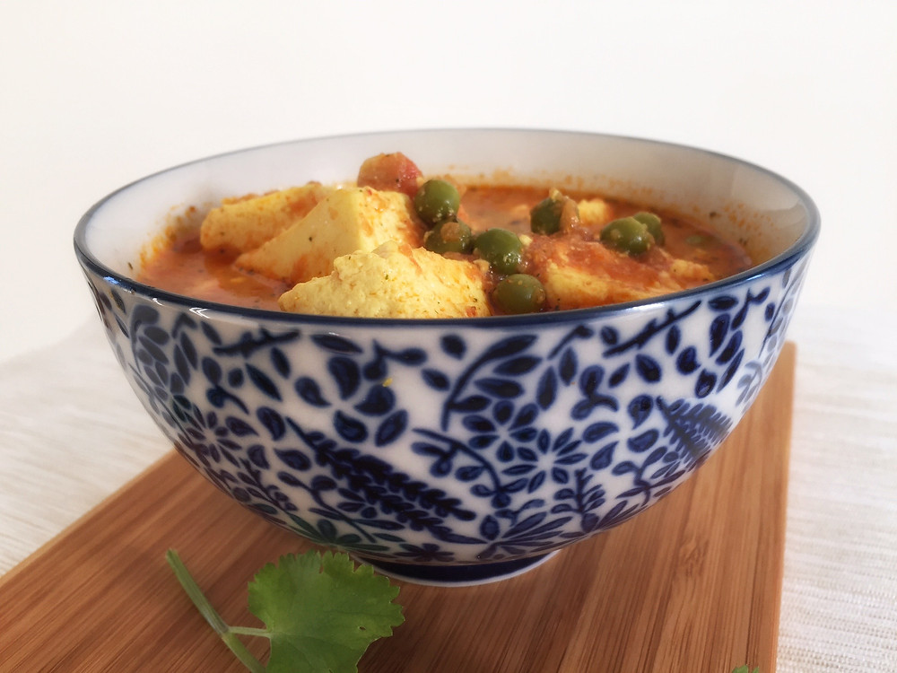 Matar Paneer, Roti, Indian cottage cheese, aartisfoodologue