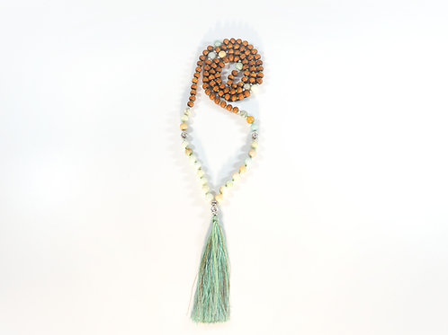 Amazonite and Sandalwood