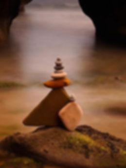 Arte efêmera - pedras