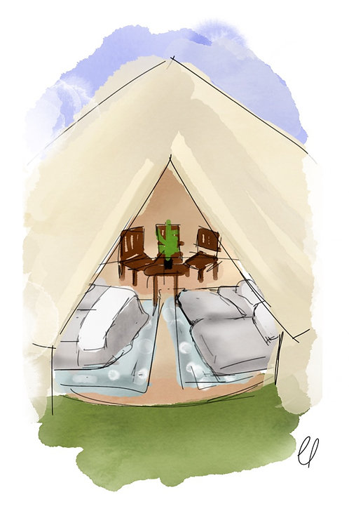 Biggest Bell Tent for 6 - FEASTIVAL