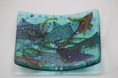 Fishy Dishy Fused Glass Dish