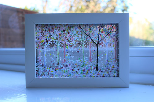 Orchard Wood Fused Glass Picture