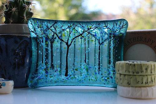 Aqua Blue Soap Dish