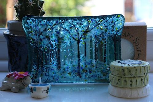 Terrific Turquoise Woodland Soap Dish