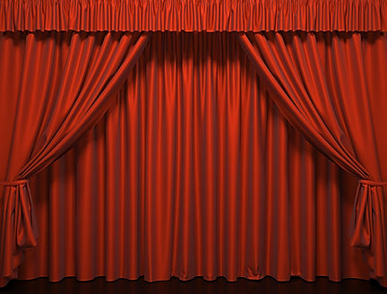 Theater curtain.  Presentation. Movies..