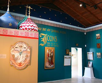 installation of traveling exhibits holy art