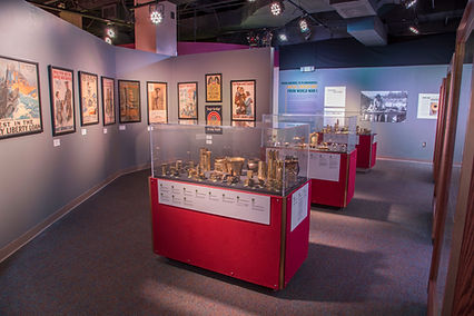 installation of traveling exhibits trench art