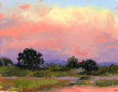 Florida landscape artist, florida painter, florida landscape painter, oil painting of florida, florida sky painting, florida artist, florida sunset painting