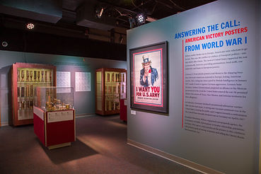 installation of traveling exhibits victory posters