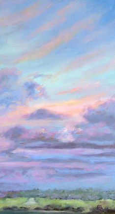 Florida landscape artist, florida artist, florida painter, florida landscape painter, oil painting of florida, florida sky painting, florida sunset painting