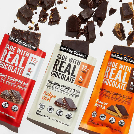 Mid-Day Squares: Organic, Plant Based Superfood Chocolate Bars. I'm OBSESSED!