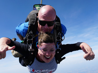 Dr. Shannon Butler's Skydive is the Talk of the Town!