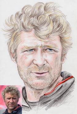 Portrait crayons couleurs