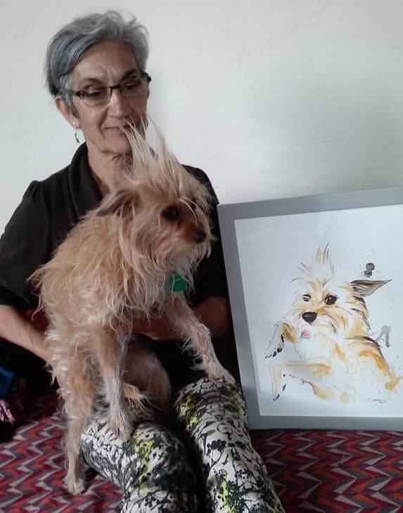 Chien et son portrait
