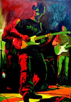 peinture musicien