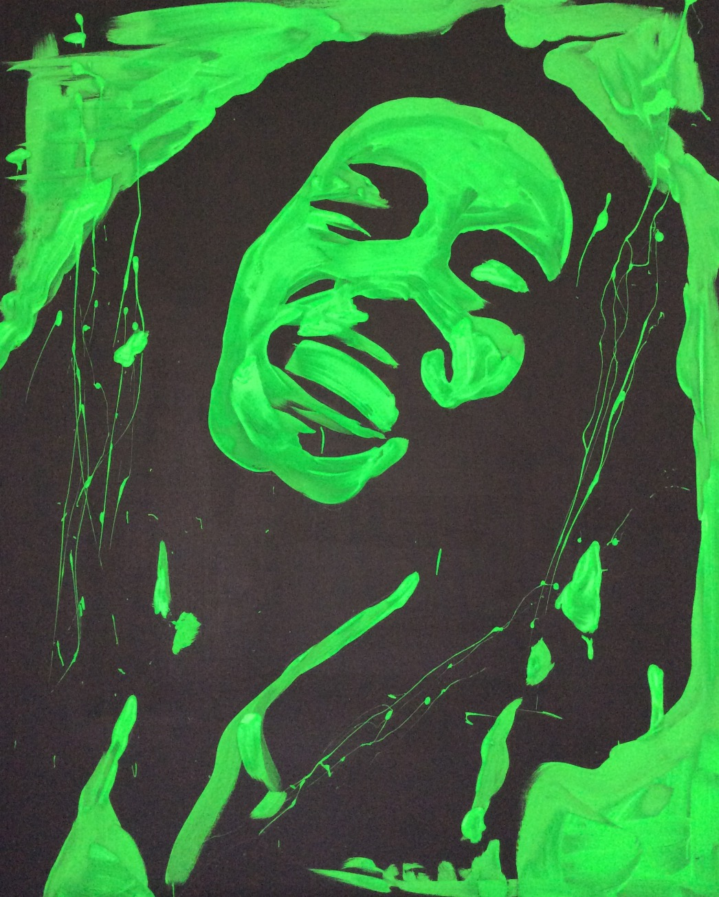 Speed painting bob marley