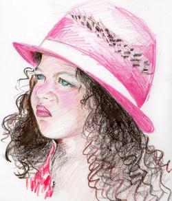 Petite fille portrait couleurs