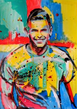 Portrait full color à l'acrylique