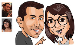 Caricatures - Dessin 2faces