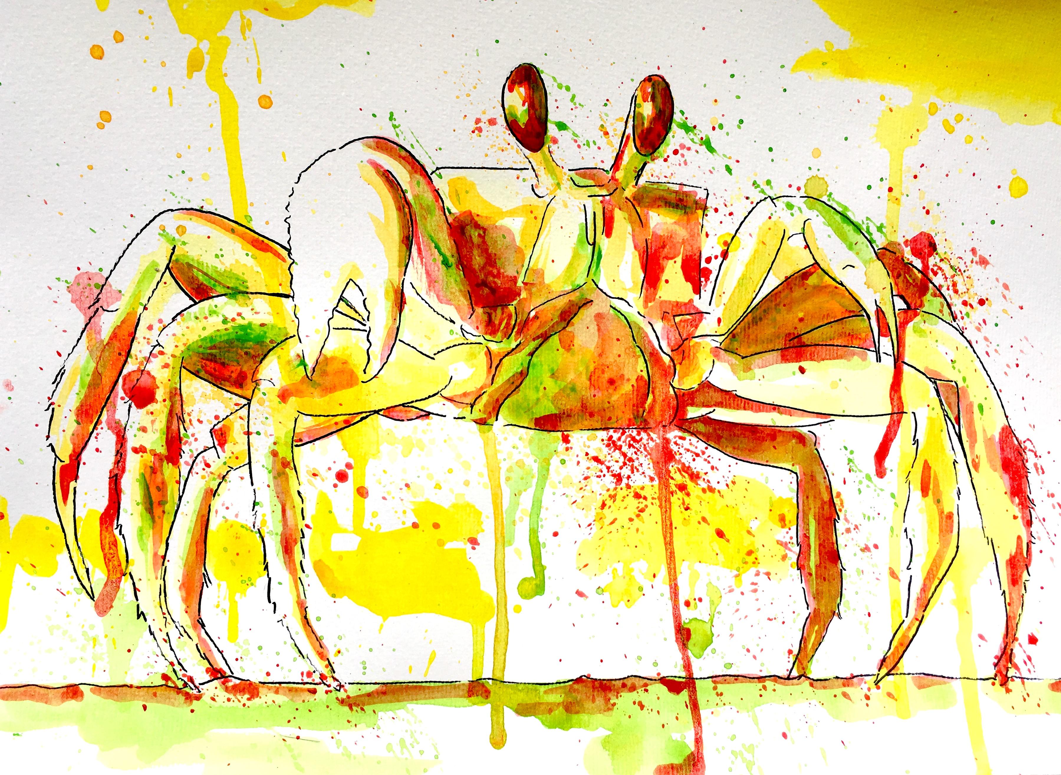 Crabe à l'acrylique