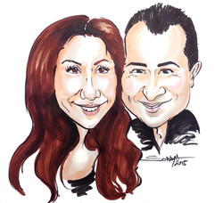 caricature de couple