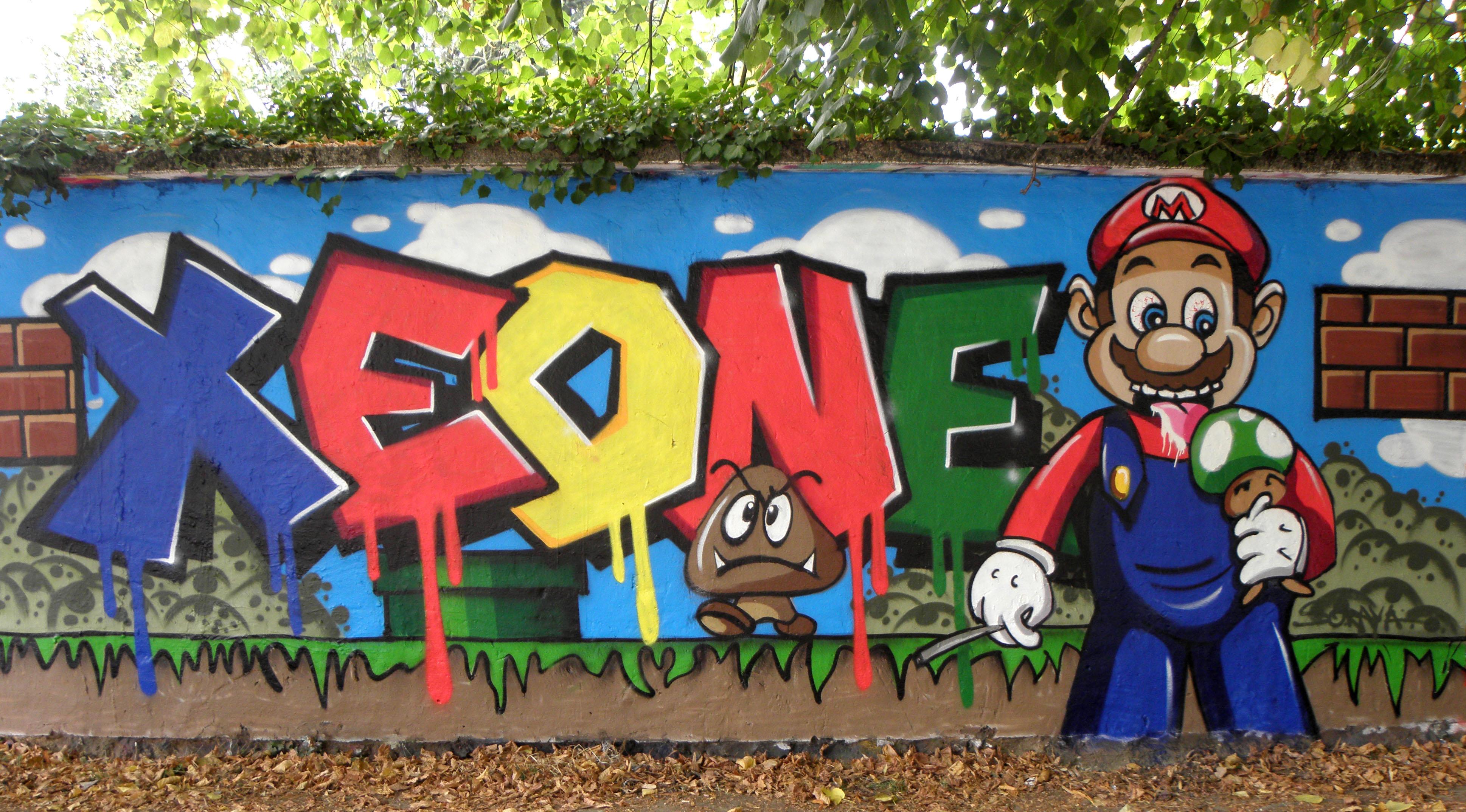 graffiti mario