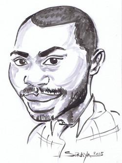 caricature noir et blanc