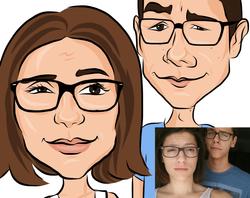 caricature couple
