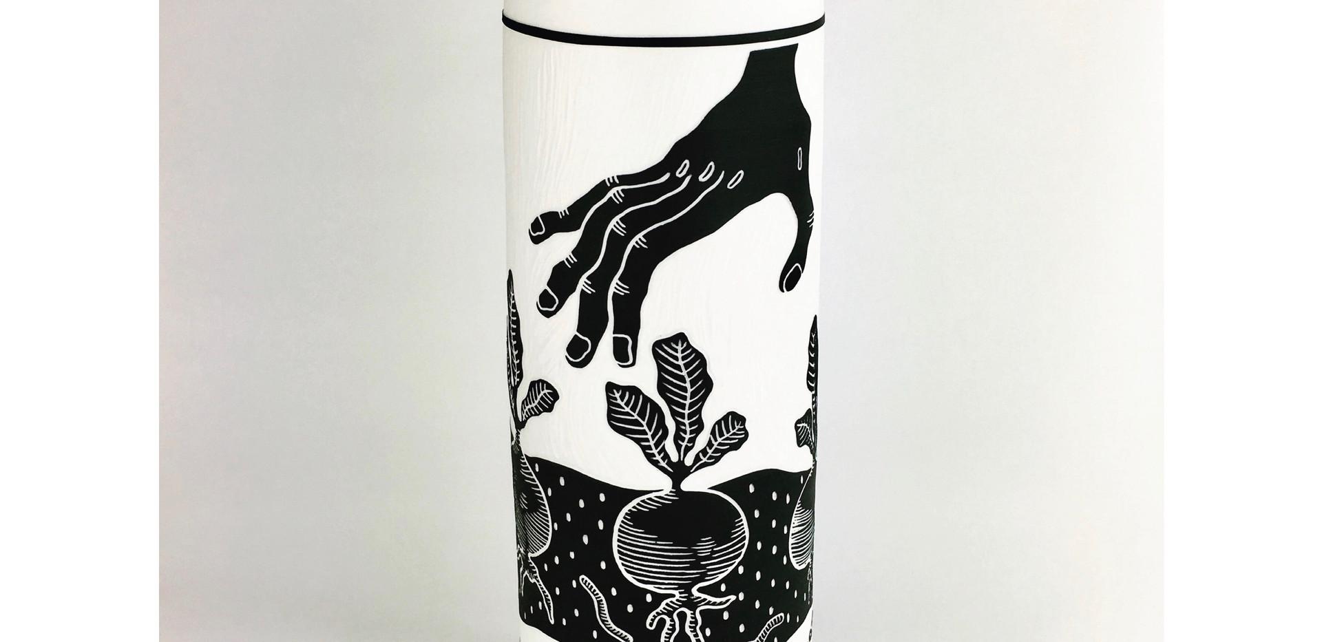 """Vase """"cueillette"""" noir"""