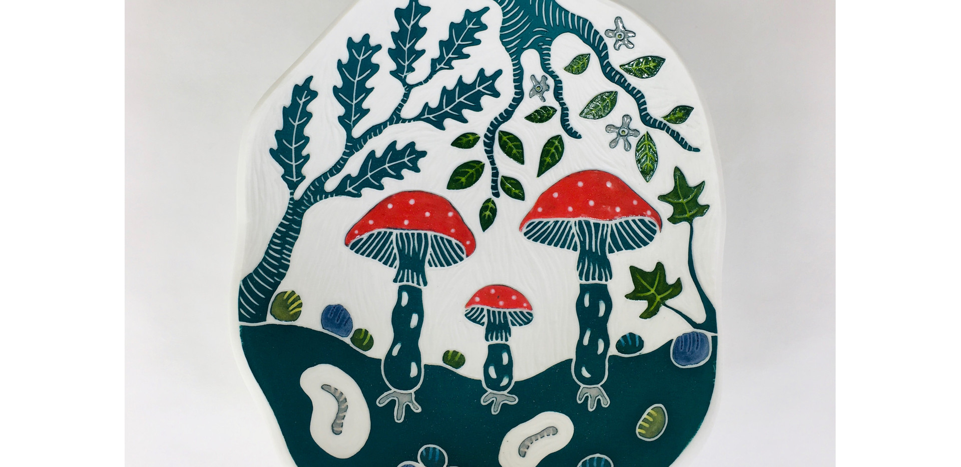 "Petite calebasse ""champignons"""